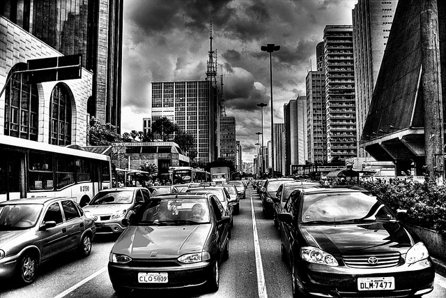 Paulista Avenue Sau Paulo traffic