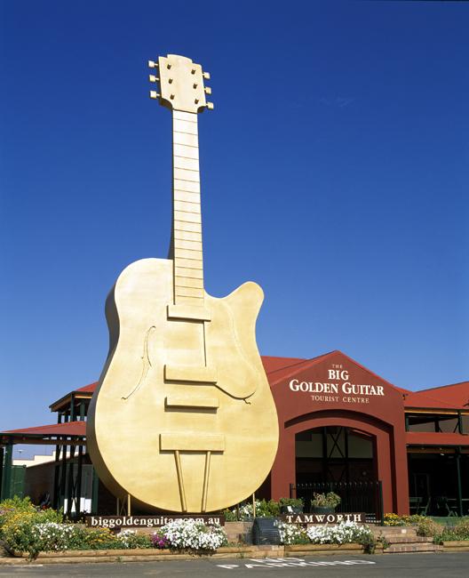 The Big Golden Guitar, Tamworth NSW
