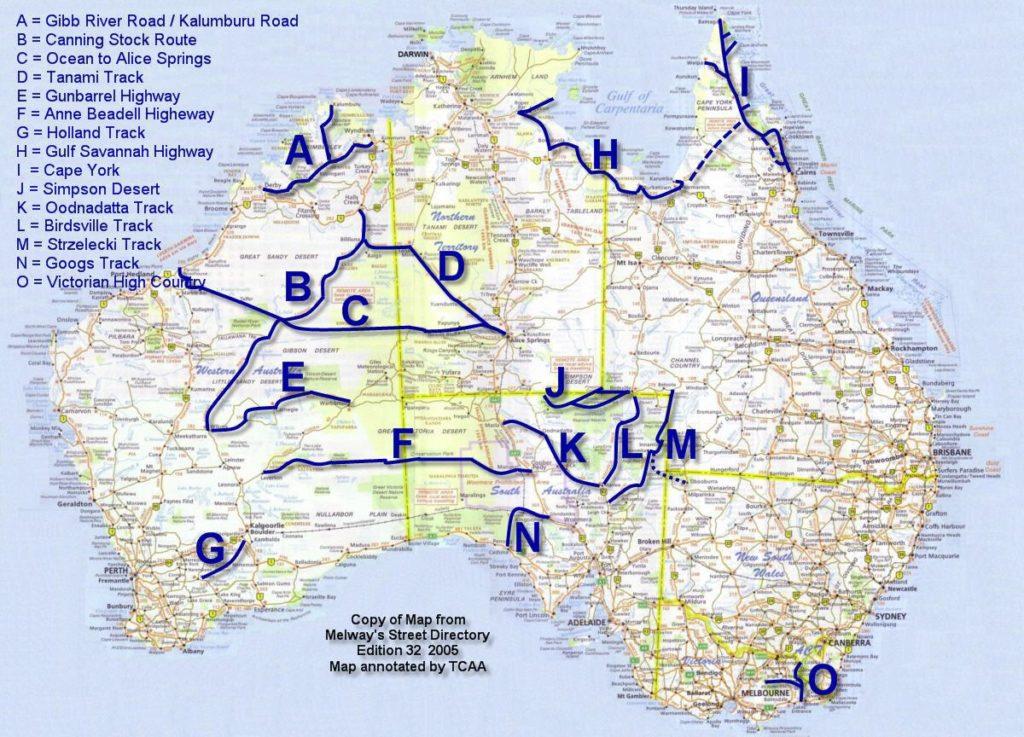 4X4 tracks i Australien