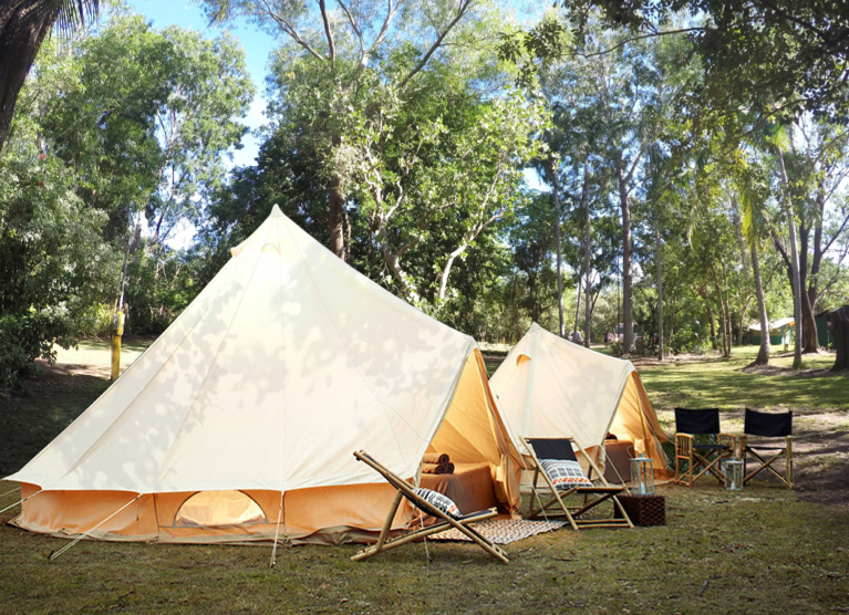 Camp ved Yellow Water River Kakadu National Park