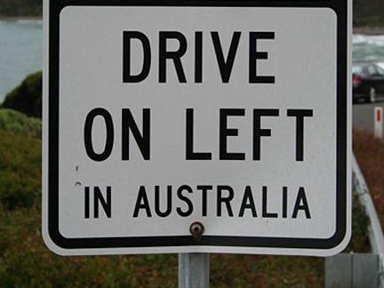 Hold til venstre i Australien