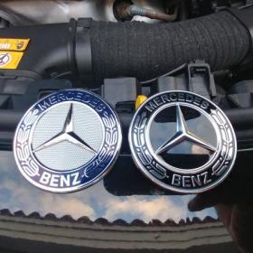 mercedes emblem till motorhuv