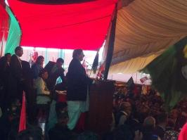 @Majid_Agha Jehangir Badar addressing PPP Convention at Bilawal House Lahore #PPPFoundationDay