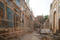 @EmilyHauze Restoration work in an early phase on one of the walls of the Mir Tombs in Hyderabad