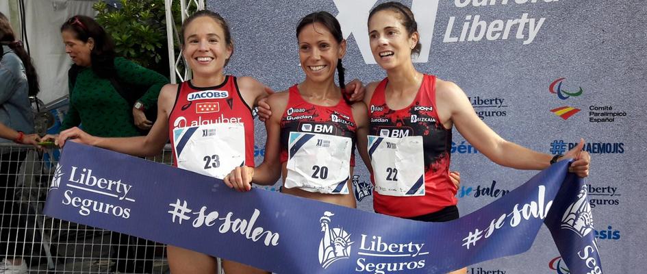 2 atletas del BM Bilbao en el podio de la carrera Liberty 2018