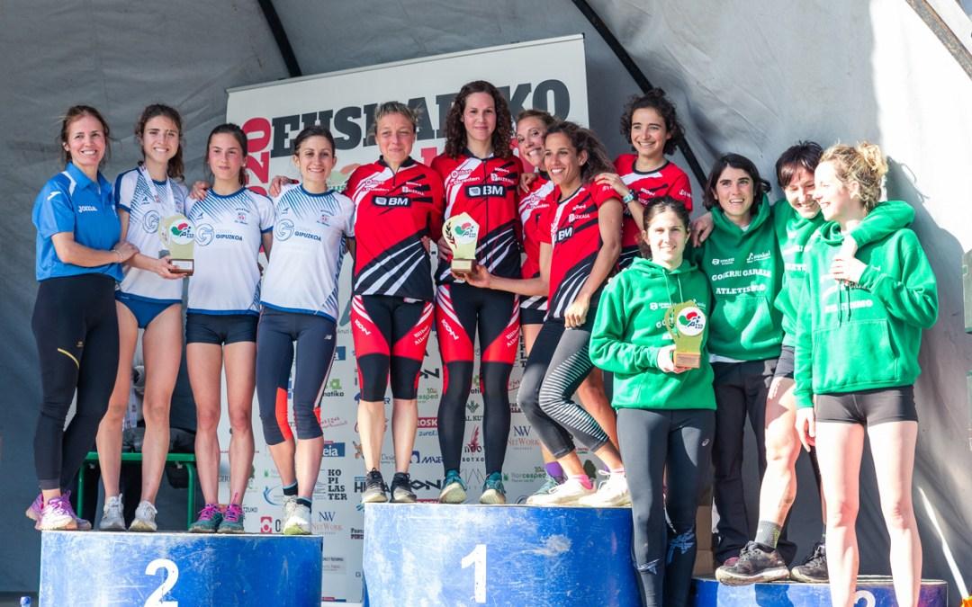 BM Bilbao, campeonas de Euskadi de Cross y de España de Medio Maratón. Irene Loizate y Elena Loyo, títulos individuales