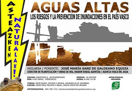 Ekologistak Martxan organiza una charla sobre la prevención de inundaciones