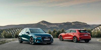 Audi A3 i Tango Blå og Tango Rød