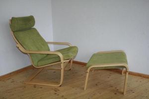 Ikea Poäng Freischwinger Sessel + Fuß Hocker Fernsehsessel ...