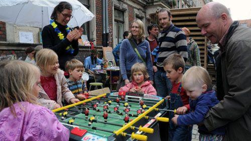 Kinder-Kickern auf der Talstraße