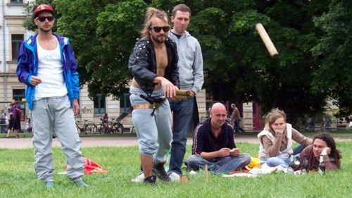 Kubb-Turnier auf dem Alaunplatz