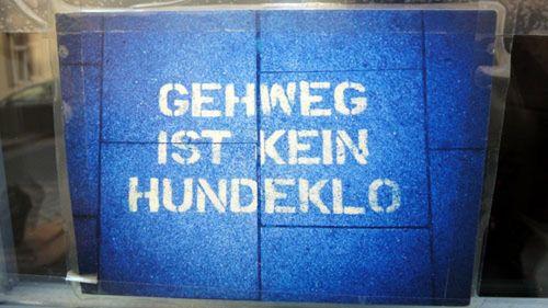 Hinweis auf der Kamenzer Straße