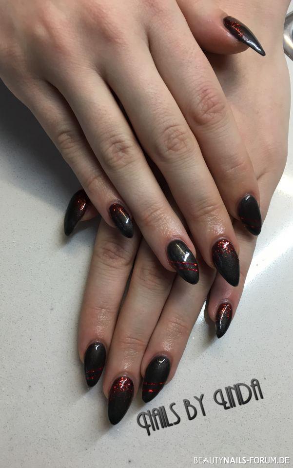 50 Schwarze Nageldesign Muster