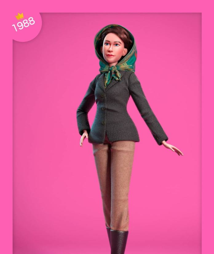 The doll: The headscarf is a little wider, the trousers are a little darker