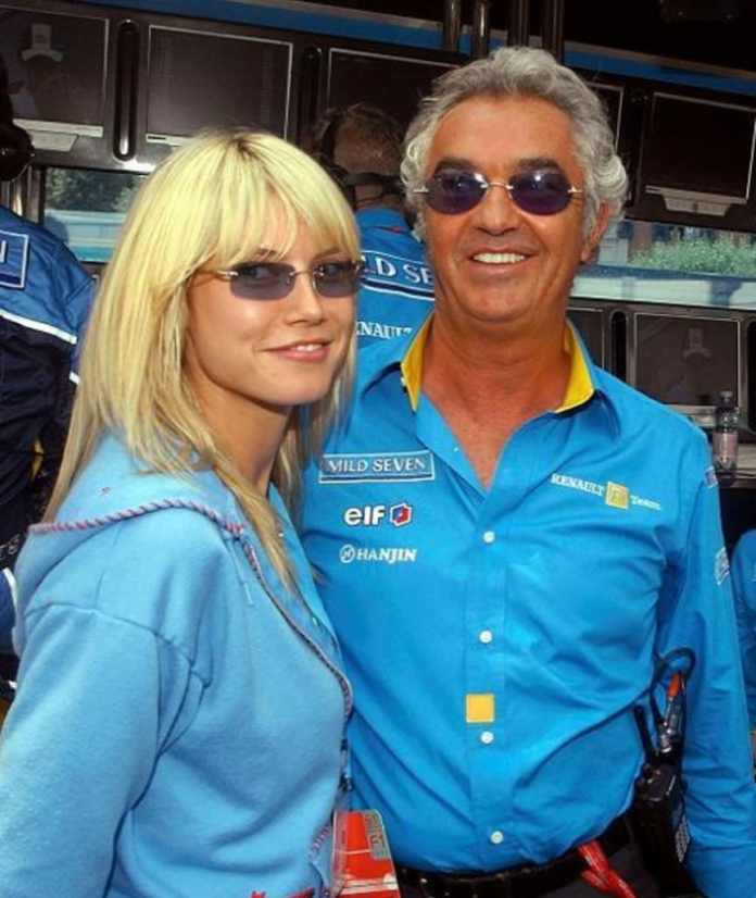 Heidi with Leni's father, ex-Formula 1 manager Flavio Briatore, in June 2003. A little later, the couple separated
