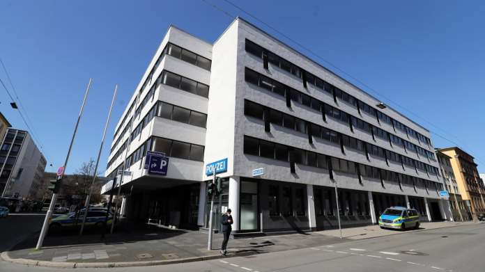 The crime is said to have taken place in this building - directly above the police station.  Video cameras recorded the act