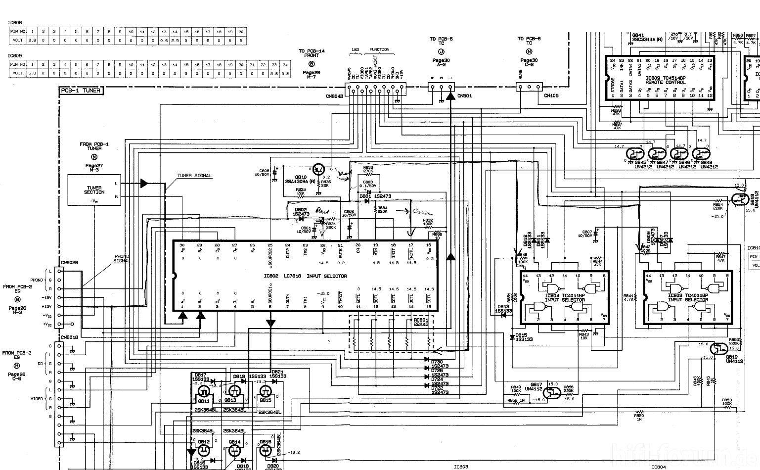 Harman Kardon Hk Schematic Detail Input Selector Ic