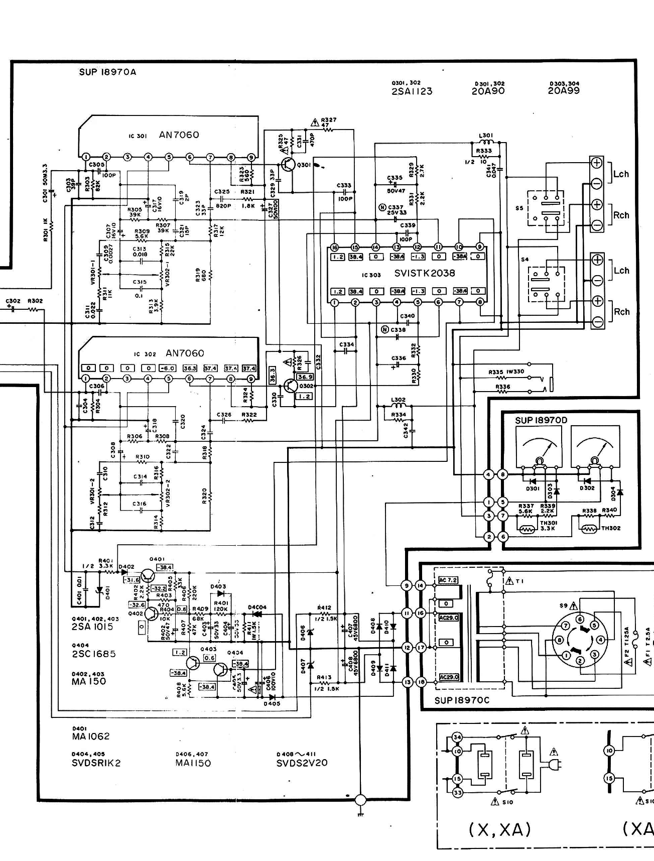 Technics Su Z2 Schematic Detail Power Amp Section And