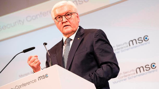 President Frank-Walter Steinmeier opens the Munich Security Conference with a speech. (Source: dpa)