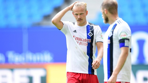 Joel Pohjanpalo (left) came to HSV during the winter break and convinced with nine goals in 14 games.  He is one of five players on loan who will leave the club at the end of the season.  (Source: imago images / Tim Groothuis / Witters / Pool)