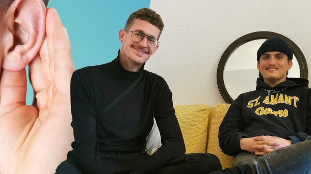 Steve is deaf, Pascal is hard of hearing: At t-online they report how they are doing in everyday life.  (Source: t-online)