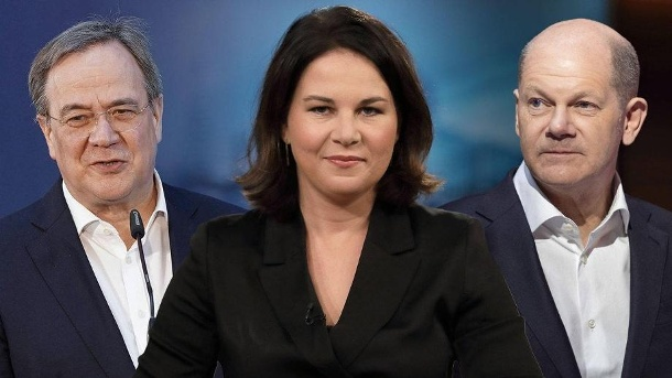 Armin Laschet, Annalena Baerbock and Olaf Scholz fight for the Chancellery.  (Source: t-online / imago images)