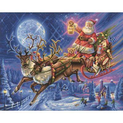 Weihnachtsmann Schlitten Malen Nach Zahlen Schipper