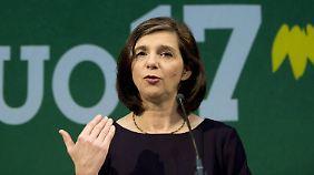 Die Vorsitzende der Bundestagsfraktion und Spitzenkandidatin der Grünen, Katrin Göring-Eckardt.