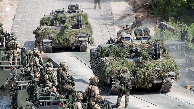 Deutsche Soldaten bei einer Nato-Übung im Juni in Litauen.