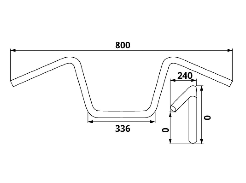 Trw 22mm Stahl Lenker Yamaha Xv Virago 125 250 Usa 400