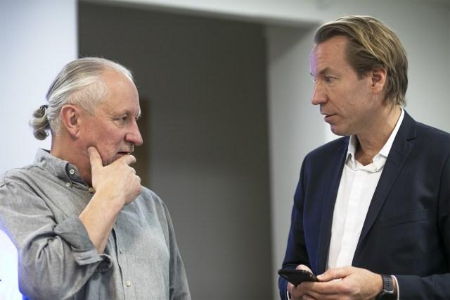 Hans Lindeberg, chefredaktör på Östersunds-Posten och Anders Eriksson, vd Bonnier News.