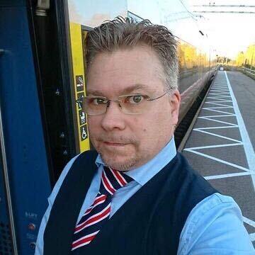 Peter Engström, tågvärd Upptåget.