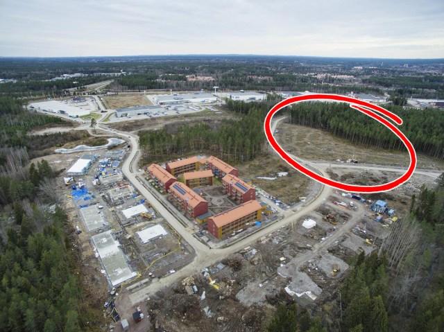 Här ska skolan och förskolan i Hemlingby ligga.