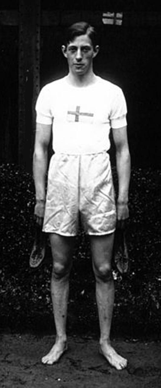 Rolf Franksson från Ockelbo kom sexa i längdhopp i OS 1920.
