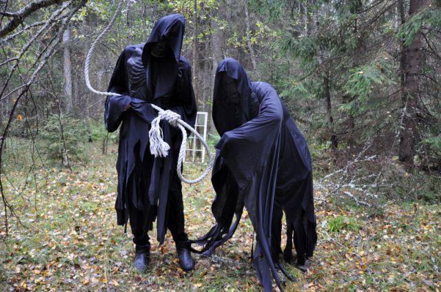 Så här har det sett ut under Haunted Halloween. Men i år blir det ingen skräck i skogen. Arkivbild.