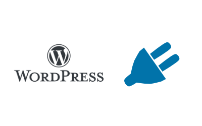 Darstellung des WordPresslogos und eines Steckers als Symbol für den Namen Plugin