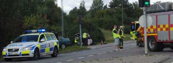 Situationsbild från krockplats i Linköping.
