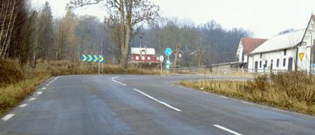 Foto från kraschplats som exempel på GPS-navigatorernas säkerhetspotential.