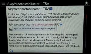 TSA i Labb-Volvons elektroniska ägarmanual