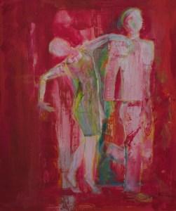 Paar - acryl, portrait