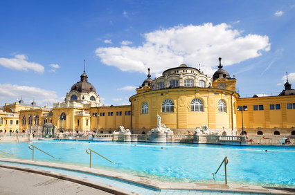 Die Szechenyi -Therme in Budapest.