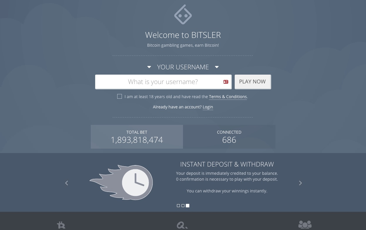 bitslerサイト画面