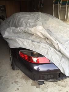 Sørgeligt, men sandt. Hun står godt beskyttet under dækken i en garage indtil videre...