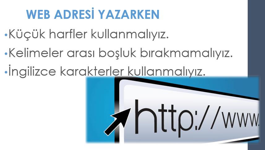 Web adresi yazım kuralları