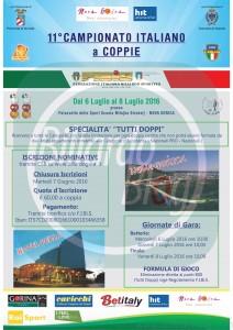 Poul finale del Campionato Italiano di Biliardo 2016: campionato coppie