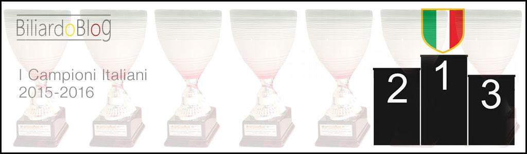 Risultati del Campionato Italiano di Biliardo 2015-2016