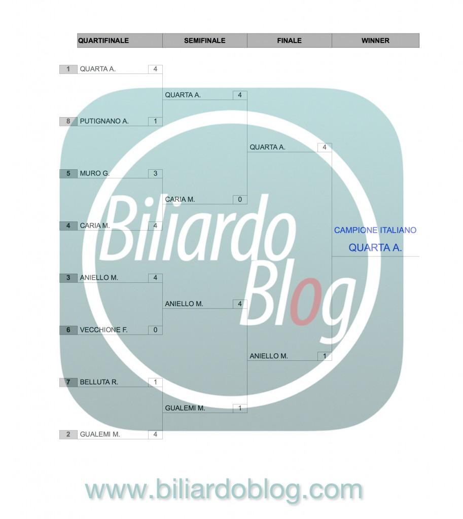 Risultati del Campionato Italiano di Biliardo 2015-2016: I pro