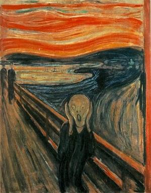 """Norveçli ressam Edvard Munch 'un """"Çığlık"""" adlı tablosu"""