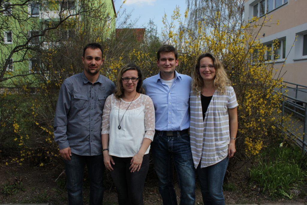 Der Vorstand nach der Gründungsversammlung am 10.04.2016: vlnr. Marcus Beyer, Mandy Beyer, Manuel Löffelholz, Kathrin Löffelholz