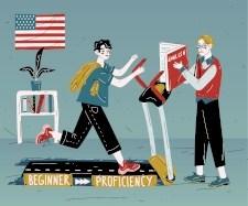 de beginner a proficiency en inglés